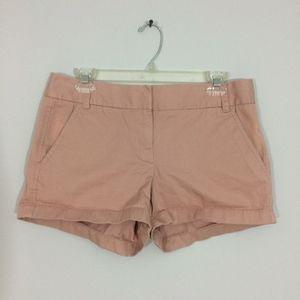 J Crew Womens Sz 6 Chino Khaki 100% Cotton Shorts